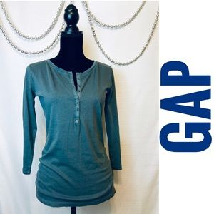 GAP Half Button Long Sleeve Henley- New With Tags